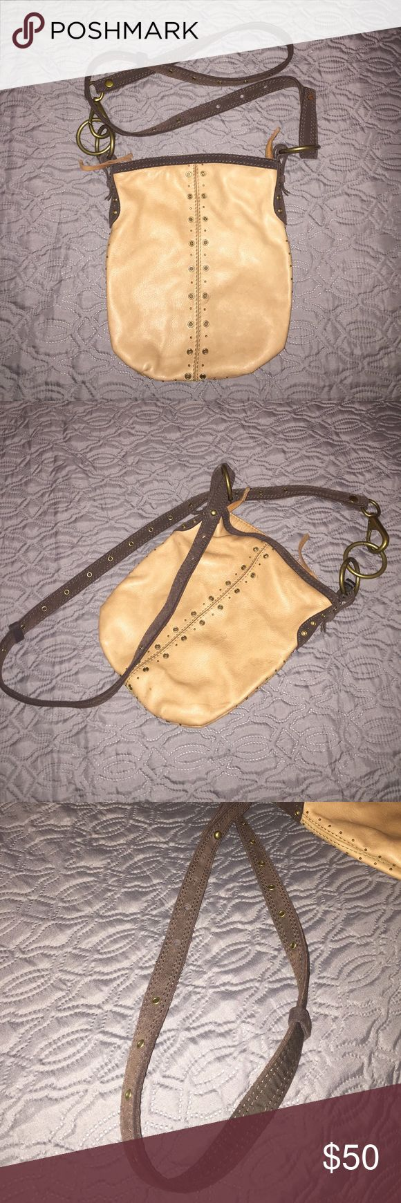 Lucky Brand Boho Purse Super cute crossbody, Lucky Brand, purse. All leather and so chic, you won't mind the missing hardware on the strap (pictured). Lucky Brand Bags Crossbody Bags