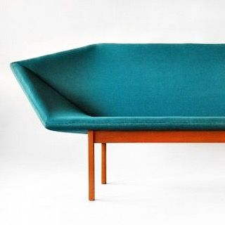 Amazing Prisma sofa by Tove & Edward Kindt-Larsen, 1963. Image via noendtodesign blog. #danishdesign #1960s #vintage #vintagefurniture