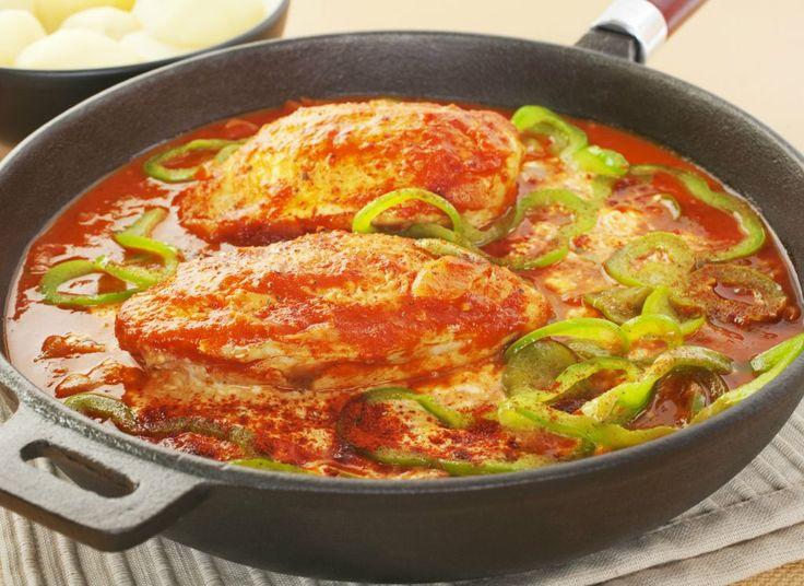 Pui cu sos de ardei copt | Retete culinare - Romanesti si din Bucataria internationala