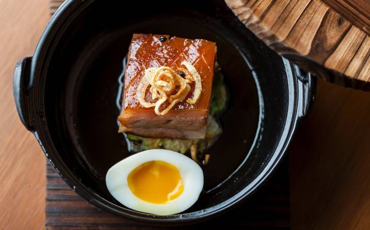 Caramelised Smoked Pork Belly with Braised Cabbage | The House of Ho, London