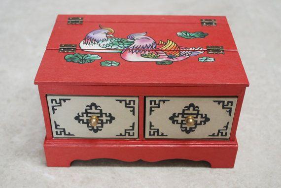 Dresser storage Cosmetic box Jewelry Box by koreanpaperart7