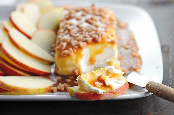 Make this easy Caramel Apple Cream Cheese Spread for your next tailgating event or special occasion.