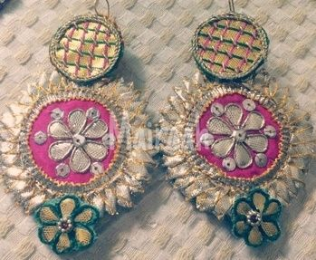 Check out this post - Our latest collection of handcrafted gota earrings Can be customized in any color For further details contact on 8826217666 created by Mairaah and top similar posts, trendy products and pictures by celebrities and other users on Roposo.