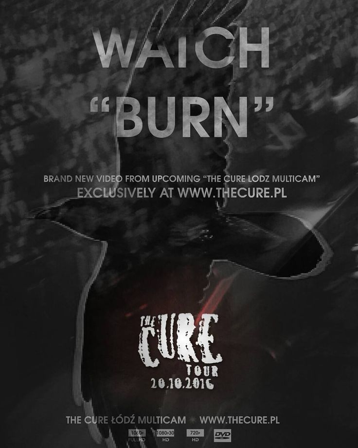 "Watch ""Burn"" the third video from upcoming ""The Cure Lodz Multicam"" exclusively at www.thecure.pl. This multicam is a non-profit fan film project and will be available to download for free from 20 October. #TheCure #Lodz #Multicam #free #fan #film #project #thecuretour2016 #RobertSmith #rock #pop #indie #goth #alternative #postpunk #80s #90s #music #instamusic #łódź #atlasarena #concert #koncert #live #download @thecure @martinmarszalek"