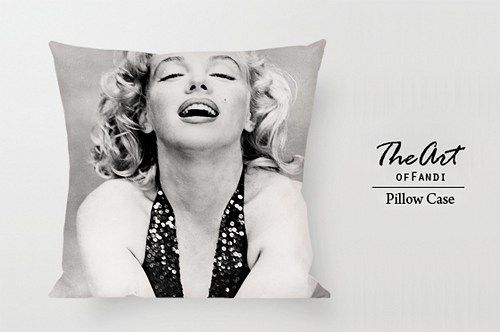 "Marilyn Monroe - Custom Square 18""x18"" One Side Pillow Case"