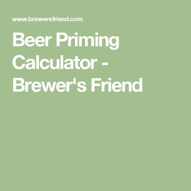 Beer Priming Calculator - Brewer's Friend