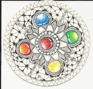 Di's Tangle Art: Zen Gem Mandela