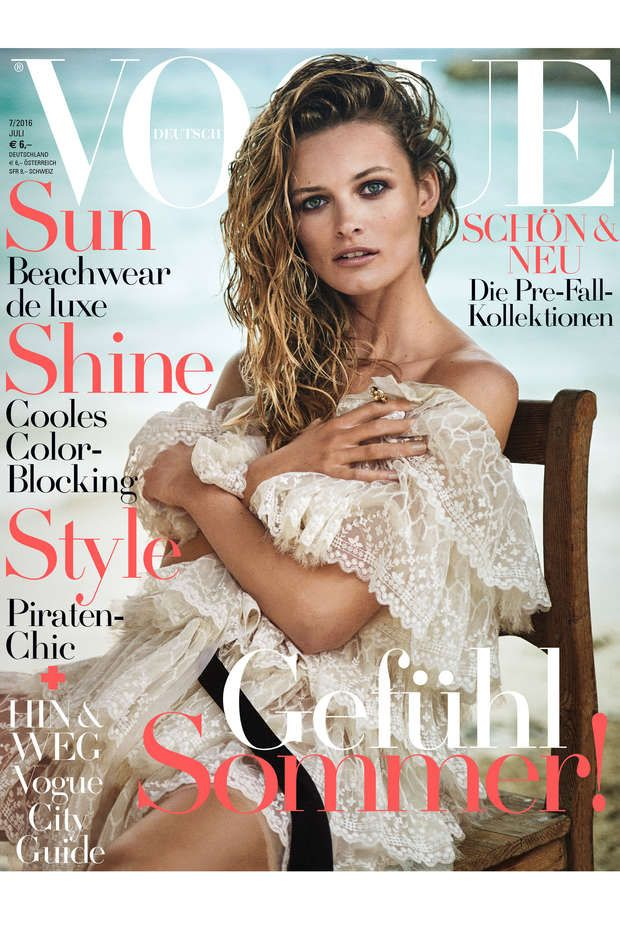 Edita Vilkeviciute by Boo George for Vogue Germany July 2016 cover - Chanel