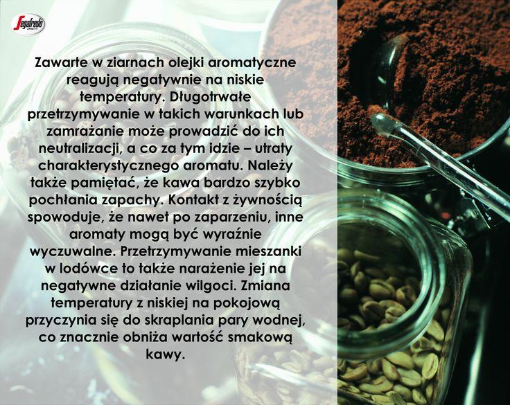 Obalamy kawowe mity! Często można spotkać się z twierdzeniem, że aby zachować długotrwałą świeżość mieszanki należy przechowywać ją w lodówce. Nic bardziej mylnego…#KawaSeagfredo #PrzechowywanieKawy