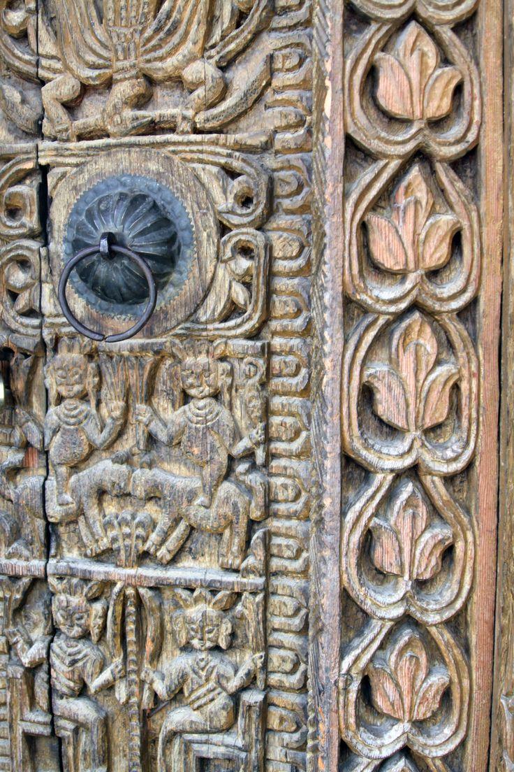 Woodwork in Kamru Village, Kinnaur, India