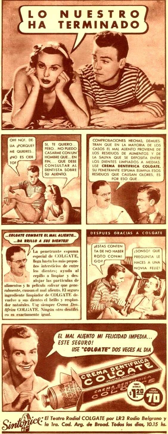 Dentífrico COLGATE, década del 40.