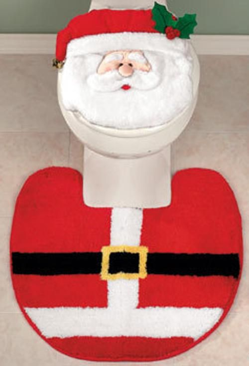 Decorar Baño Navidad:adornos para decorar el cuarto de baño en navidad alfombra y