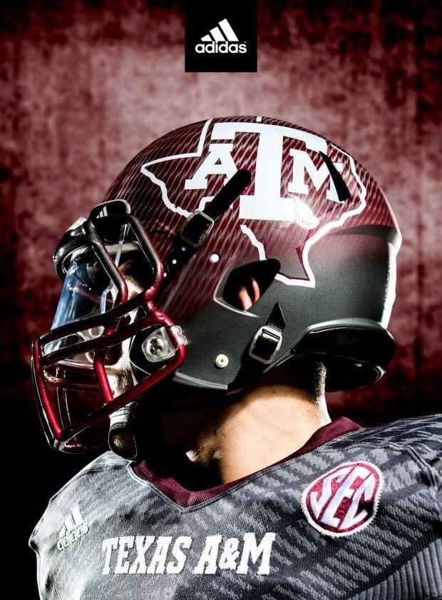 2013 Texas A&M Alternative Dark Onyx Adidas Techfit Uniform
