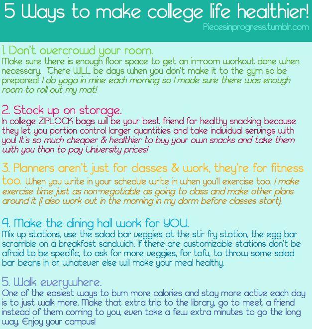 Make college life healthier  @Jodi Wissing Wissing Wissing Warrington