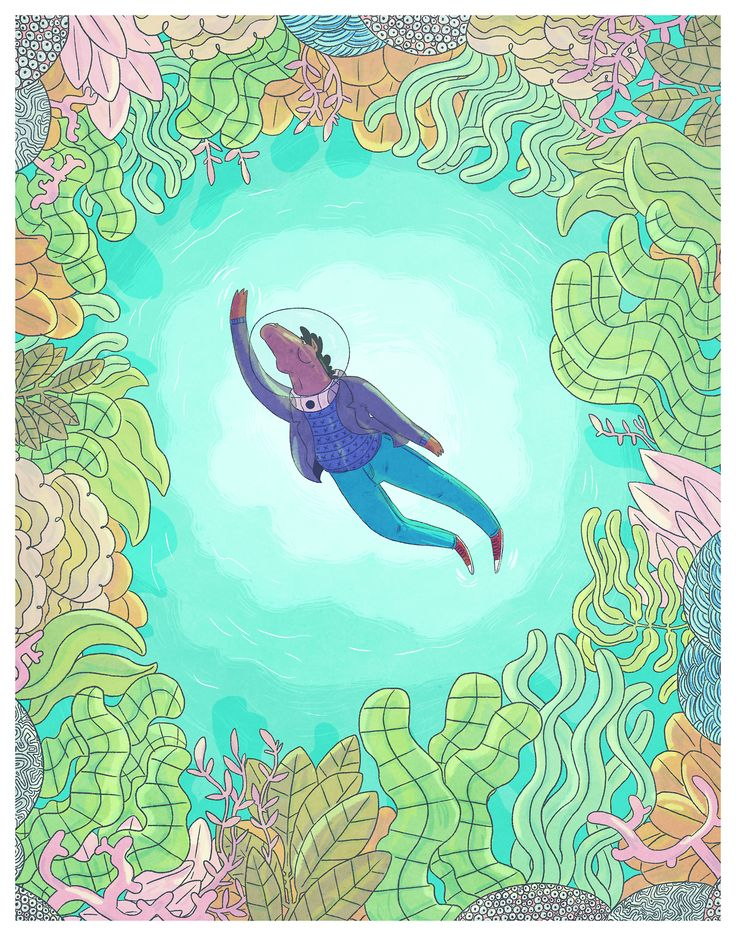it's months after it came out but i think about the underwater episode of bojack horseman all the time