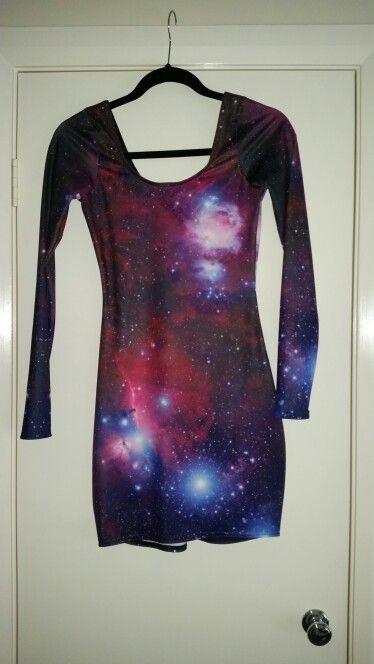 Black Milk unreleased long sleeve purple galaxy dress