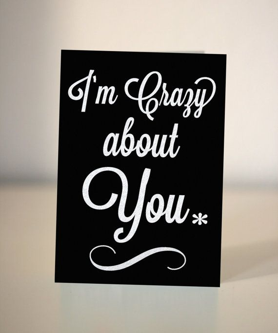 I'm crazy about you   Valentine / Anniversary card / by DickensInk, £2.65