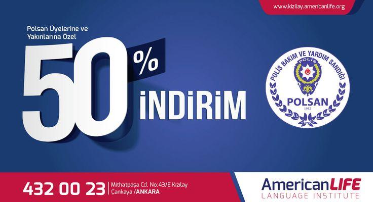 AmericanLIFE Ankara Kızılay İngilizce Almanca Rusça Yabancı Dil Kursundan Polsan üyelerine ve yakınlarına özel indirim.