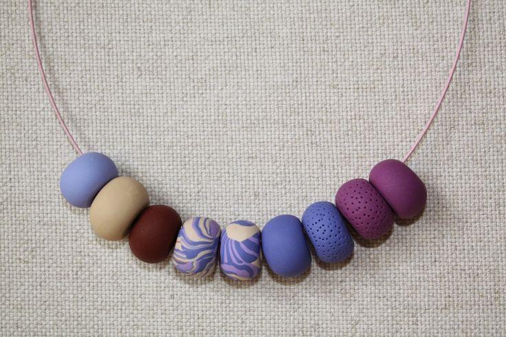 GATO Handmade: Polymer clay beads necklace