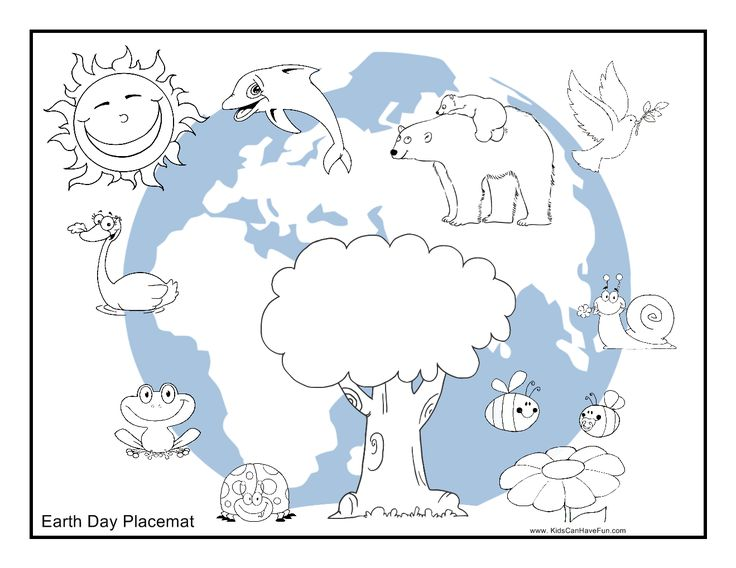 Color Earth Day Placemat