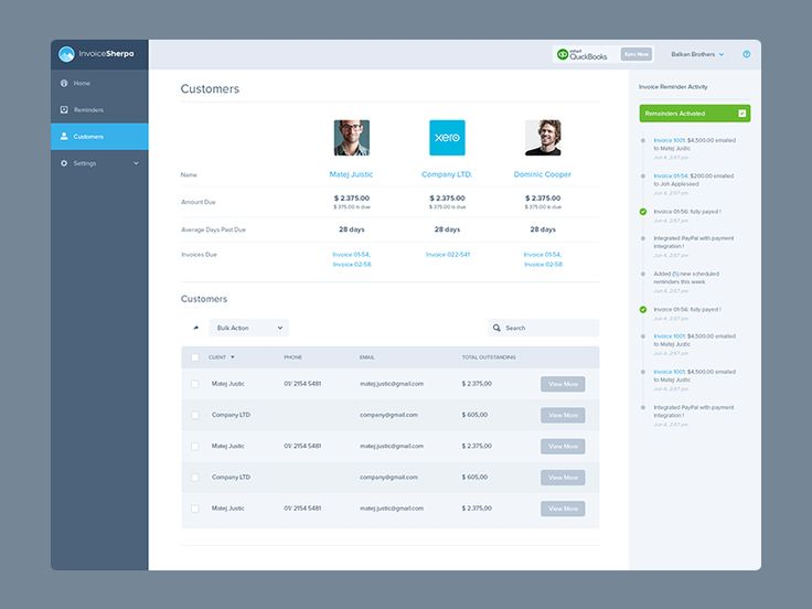 Invoice Sherpa Dashboard Inner Pages