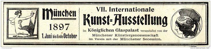 Original-Werbung/ Anzeige 1897 - INTERNATIONALE KUNSTAUSSTELLUNG MÜNCHEN - ca. 190 x 45 mm