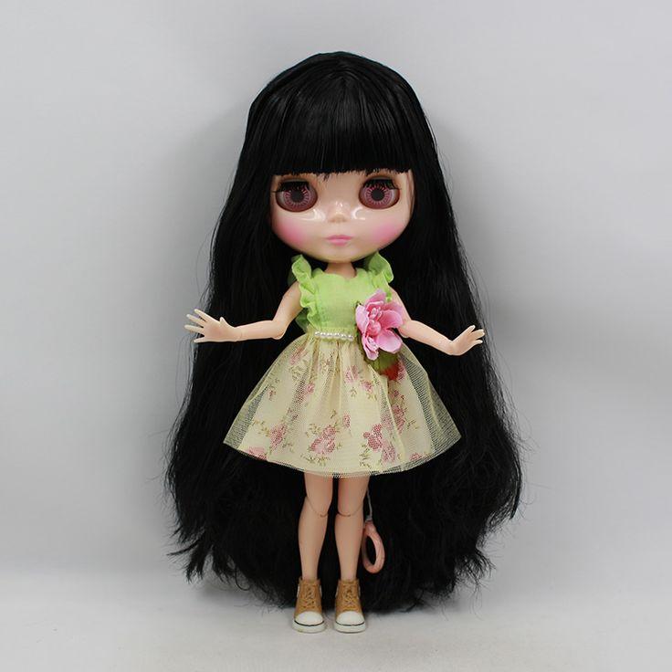 Бесплатная доставка BJD совместное RBL 750 DIY обнаженная блит подарок на день рождения для девочек 4 большие глаза куклы с красивыми волосами милая игрушка купить на AliExpress