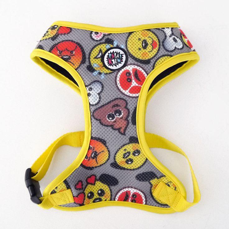 Dog Harness, Always Feeling Cool, Super Soft Psiakrew Dog Emoticon by PSIAKREW on Etsy