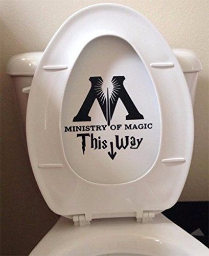 This hilarious sticker is a great bathroom decorating idea for Harry Potter fans!
