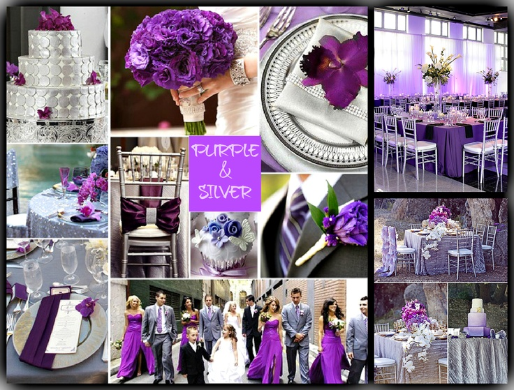 Purple And Silver Wedding Choice Image - Wedding Dress, Decoration ...