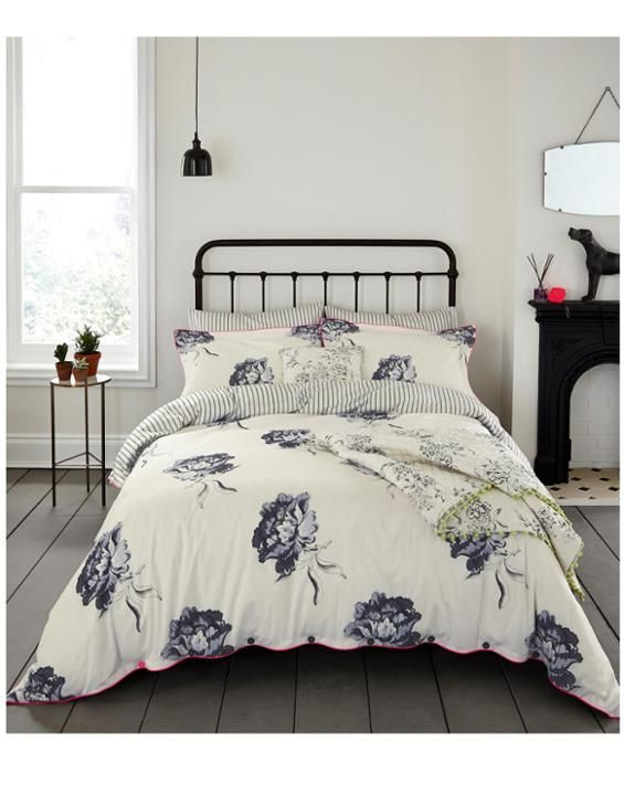 Duvetregency Grey Bloom Regency Duvet Cover | Joules UK