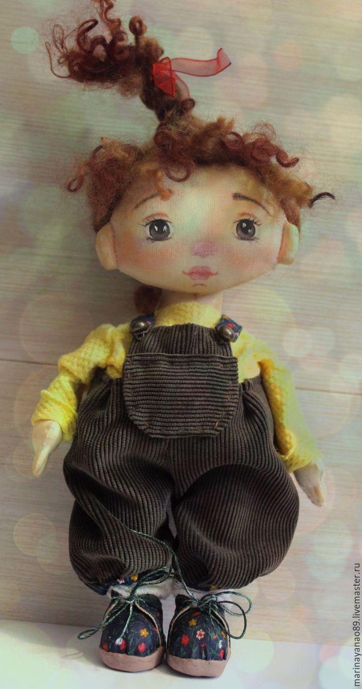 Купить Наталка- кукла ручной работы - тёмно-зелёный, dolls, doll, текстильная кукла