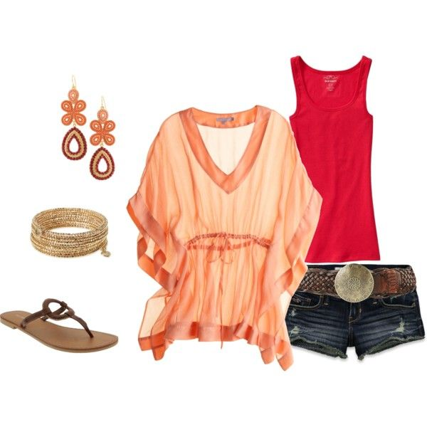 Havana Sunset (by way of Old Navy and Stella & Dot): Color, Cute Summer Outfits, Star Dot