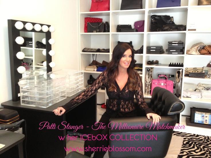 Celebrity makeup storage