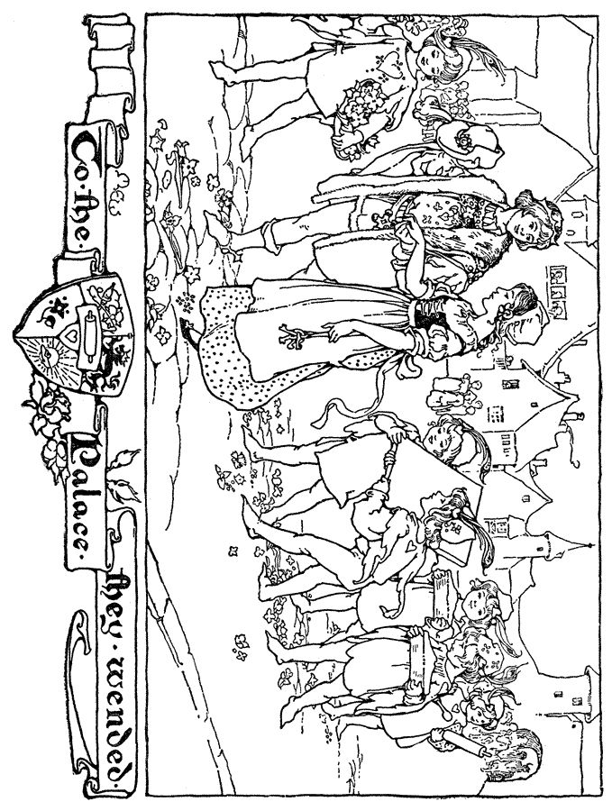 Princess Coloring Pages 6 medieval kid's activities
