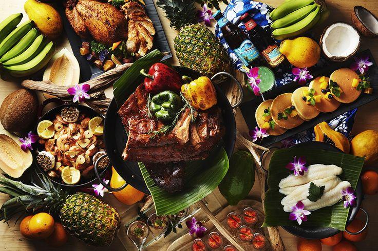 ソウルフードからユニークなロコフードまでハワイ料理をビュッフェスタイルで堪能