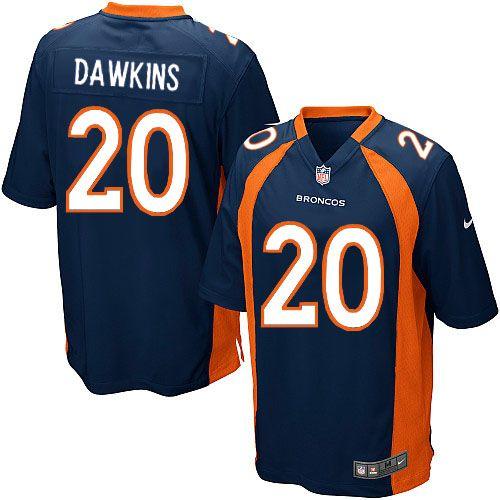 Men's Nike Denver Broncos #20 Brian Dawkins Limited Navy Blue Alternate NFL Jersey Sale