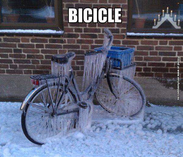 What Do You Call A Frozen Bicycle? | Winter Humor | Bike Pun