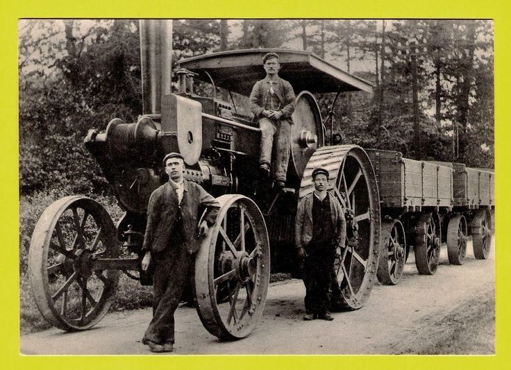 Dudley Libraries Postcard - Burrell Traction Engine in Hagley Rd Hasbury 1893 in Collectables, Postcards, Transportation | eBay