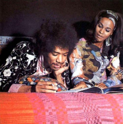 "Jimi Hendrix and Lithofayne Pridgon, the original ""Foxy Lady"""