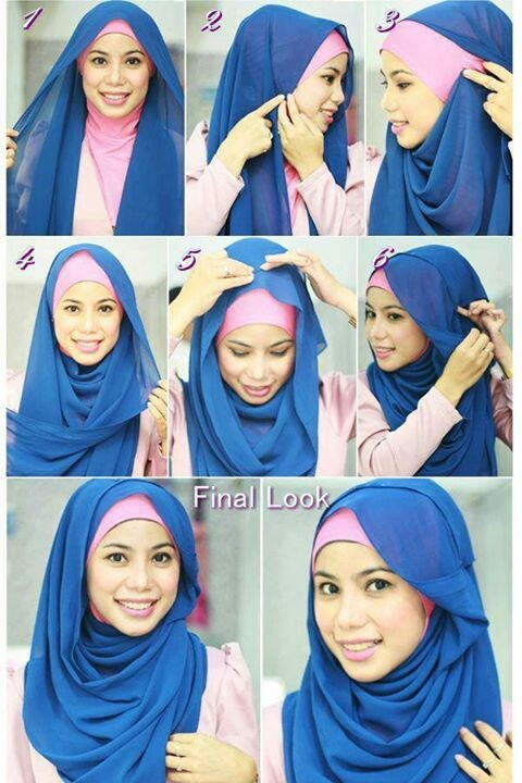 simple tutorial hijab (scarft) 2