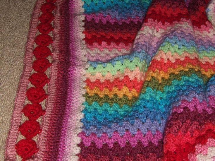Line of Poppies Crochet Edging