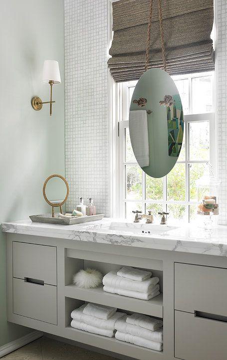 Bath Vanity & Floating Mirror | Inspiration - Interiors | Pinterest