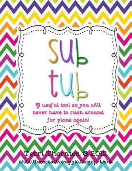Great resource for being prepared for subs!: Sub Plans, Teacher Stuff, Lists Ideas, Substitute Teacher, Teachersnotebookcom 34, Classroom Management, Sub Tubs Ideas, Hands Made Gifts, Classroom Ideas