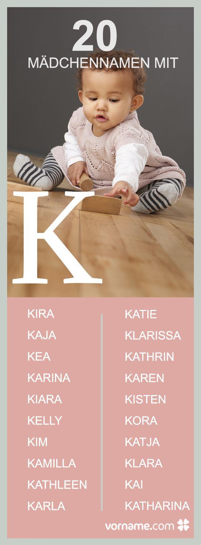 Hier findest Du eine große Übersicht an Namen, die mit einem K beginnen. Finde den passenden Namen für Deine Tochter und informiere Dich über dessen Herkunft und Bedeutung!