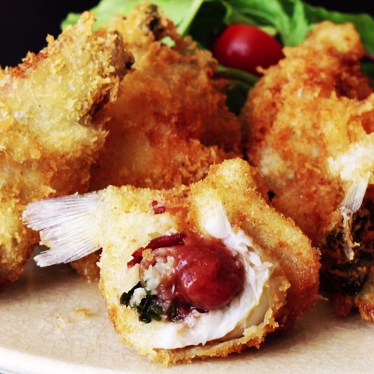 Whiting with ginger and sour plum tastes much yummier with a little browning via deep fryer.