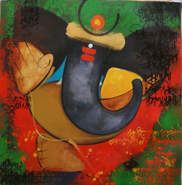 Ganesha Lord of Success #Art  #Painting