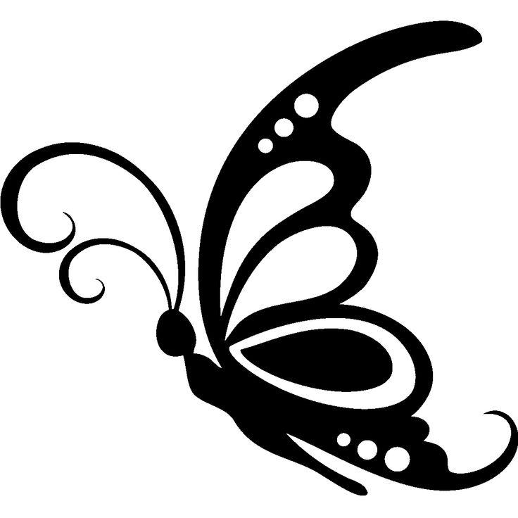Sticker grand papillon carolann butterfly stencil butterfly clip art butterfly outline - Silhouette papillon imprimer ...