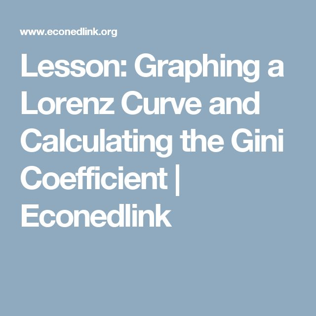 Lesson: Graphing a Lorenz Curve and Calculating the Gini Coefficient | Econedlink