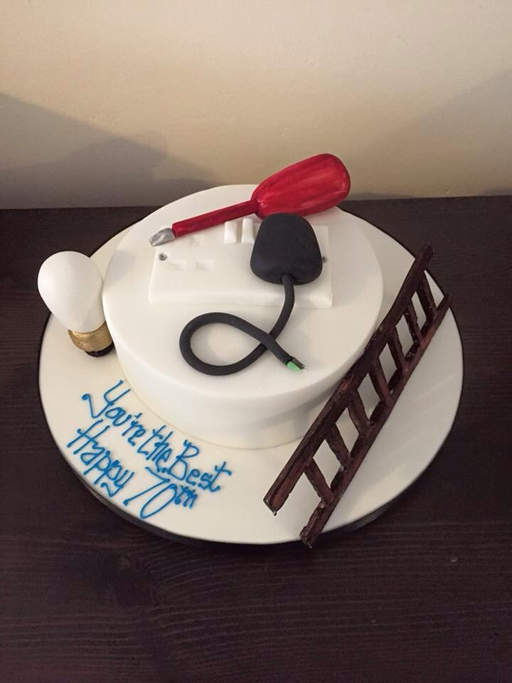 52 best Electrician Cakes images on Pinterest Birthday cakes